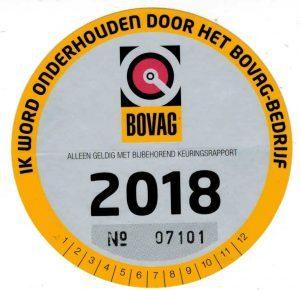Afbeeldingsresultaat voor bovag sticker 2018